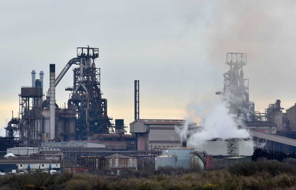 Tata's steelworks in Port