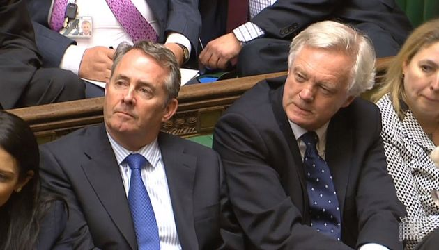 International Trade Secretary Liam Fox and Brexit Secretary David