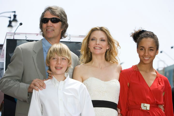 Michelle Pfeiffer with her husband and two children.