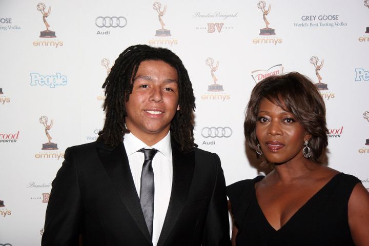 Alfre Woodard and son Duncan Spencer.