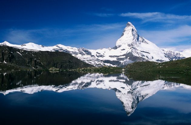 The Matterhorn straddles the border between Switzerland and