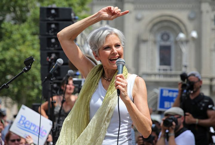 Green Party presidential nomineeJill SteincourtedBernie Sanders supporters at the Democratic convention in