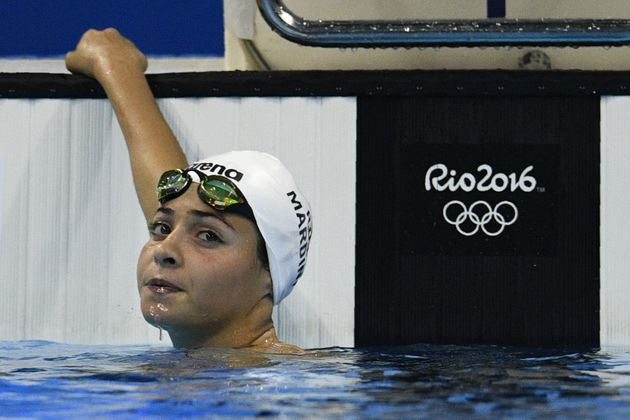 Refugee Olympic Team's Yusra Mardini won her heat in the women's 100m