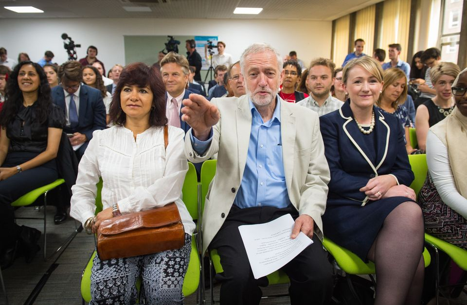 Corbyn's wife Laura Alvarez at his leadership campaign
