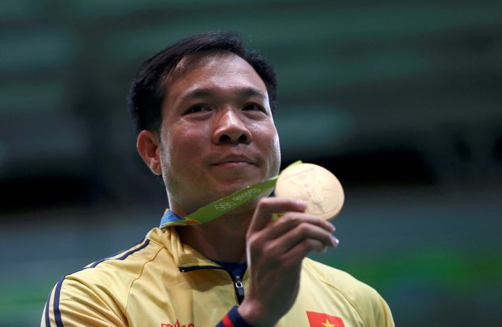 Xuan Vinh Hoang won Vietnam's first-ever Olympic gold medal in any sport on the first day of Rio 2016.