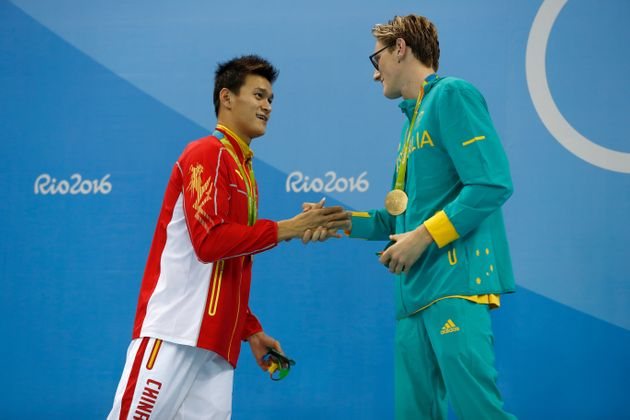 OLYMPICS China's Sun Yang wins Olympic 200m freestyle gold