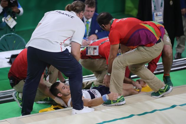 Samir Ait Said suffered a horrific leg break during the men's