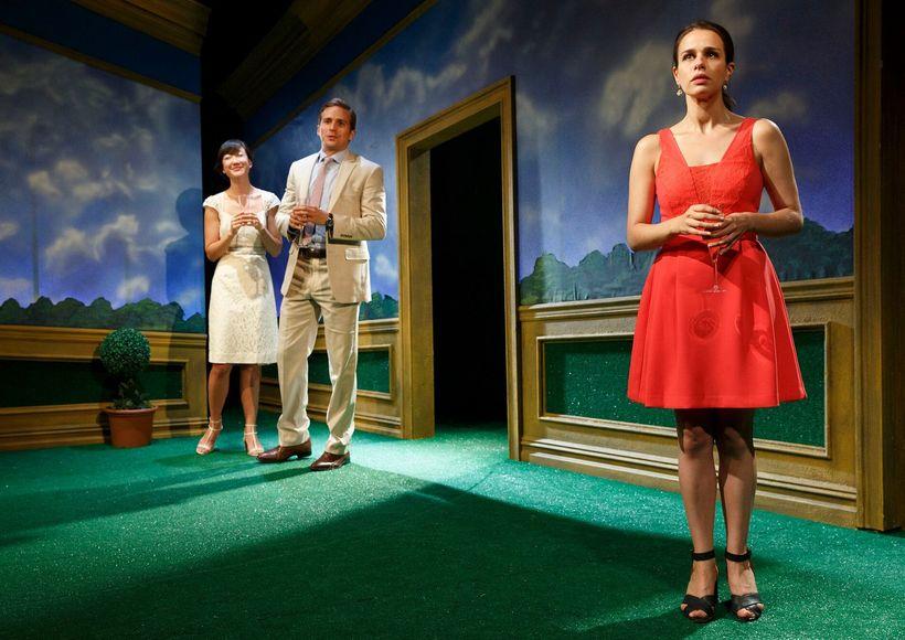 Michael Stahl-David, Jennifer Kim and Ana Nogueira in <i>Engagements.</i>