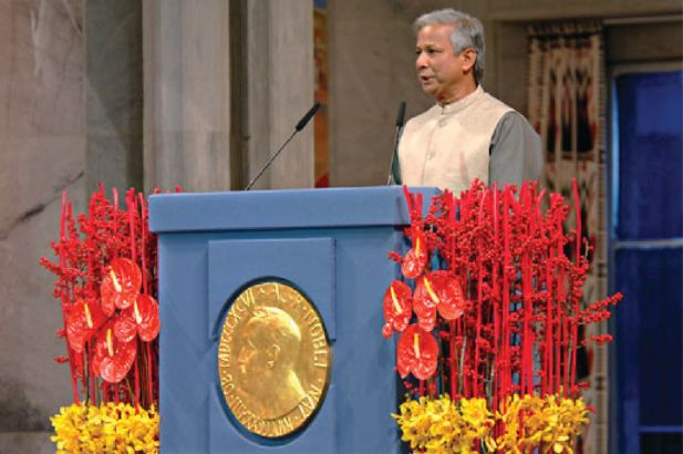 """Twenty-three years after he founded thebank, Yunus shared the 2006 Nobel Prize with Grameen, """"for their effort to creat"""