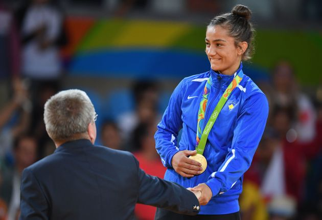 Majlinda Kelmendi claimed Kosovo's first ever medal, winning Olympic gold in the