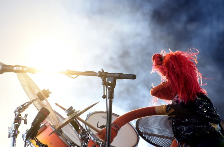 Drummer Animal of Dr. Teeth and the Electric Mayhem performing at theOutside Lands Music and Arts Festival at Golden Ga