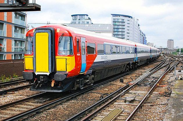 A class 442 train like the one involved in the