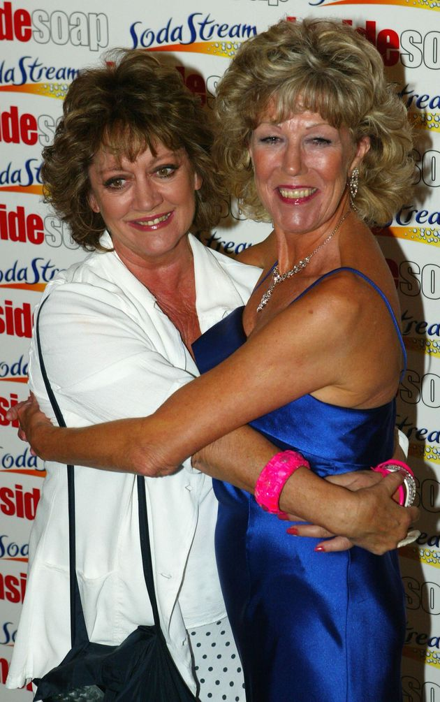 Amanda Barrie with great friend and former Corrie colleague Sue