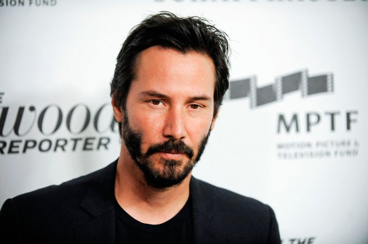 Actor Keanu Reeves arrives at the 2nd Annual Reel Stories, Real Lives event benefiting the Motion Picture & Television Fu