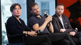 NEW YORK, NY - AUGUST 05:  Actors Cillian Murphy, Jamie Dornan and director Sean Ellis attend AOL Build Presents Sean Ellis, Jamie Dornan and Cillian Murphy, 'Anthropoid' at AOL HQ on August 5, 2016 in New York City.  (Photo by Jim Spellman/WireImage)