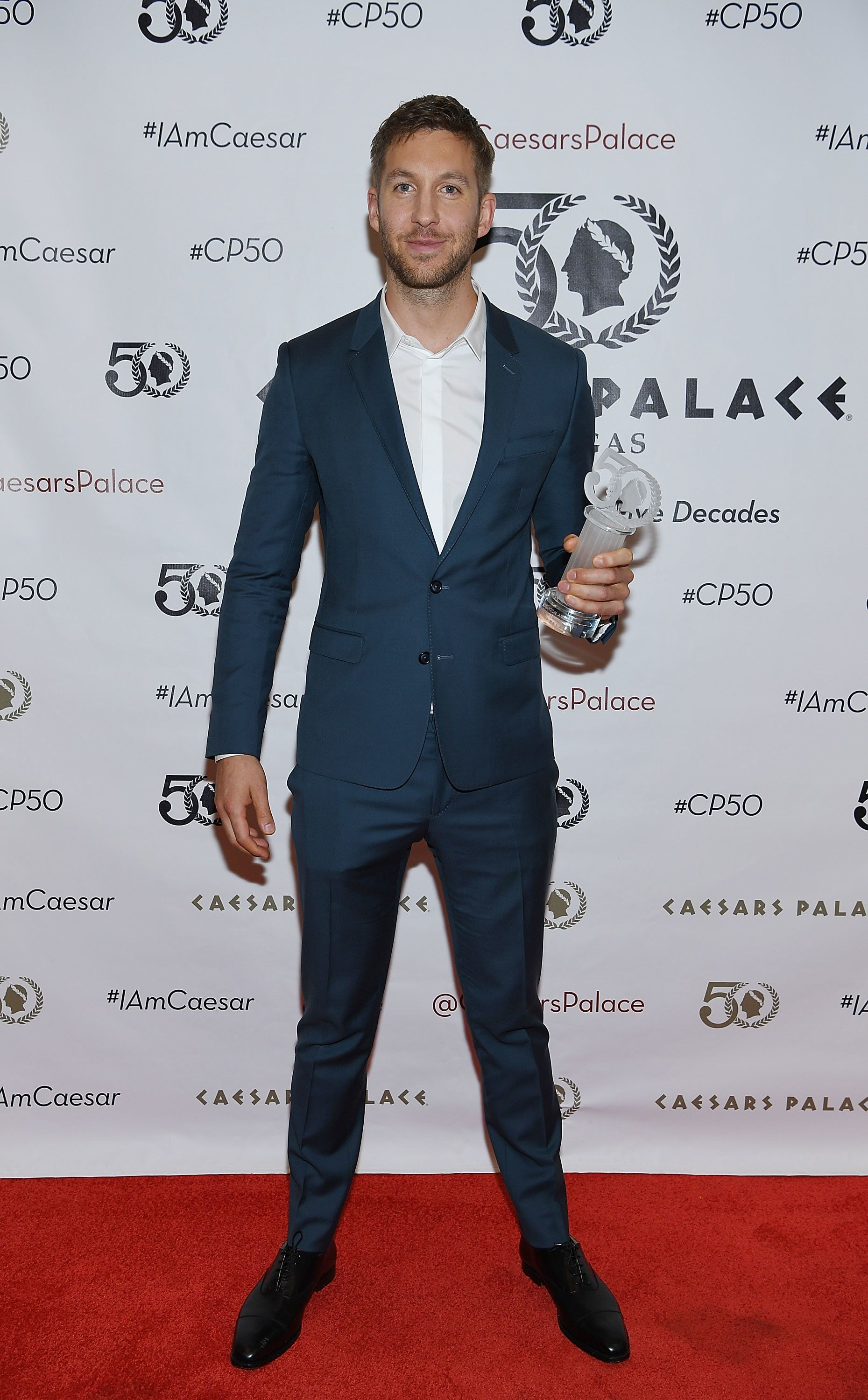 LAS VEGAS, NV - AUGUST 06: Calvin Harris attends the 50th anniversary gala at Caesars Palace on August 6, 2016 in Las Vegas, Nevada. (Photo by Denise Truscello/Getty Images for Caesars Palace)