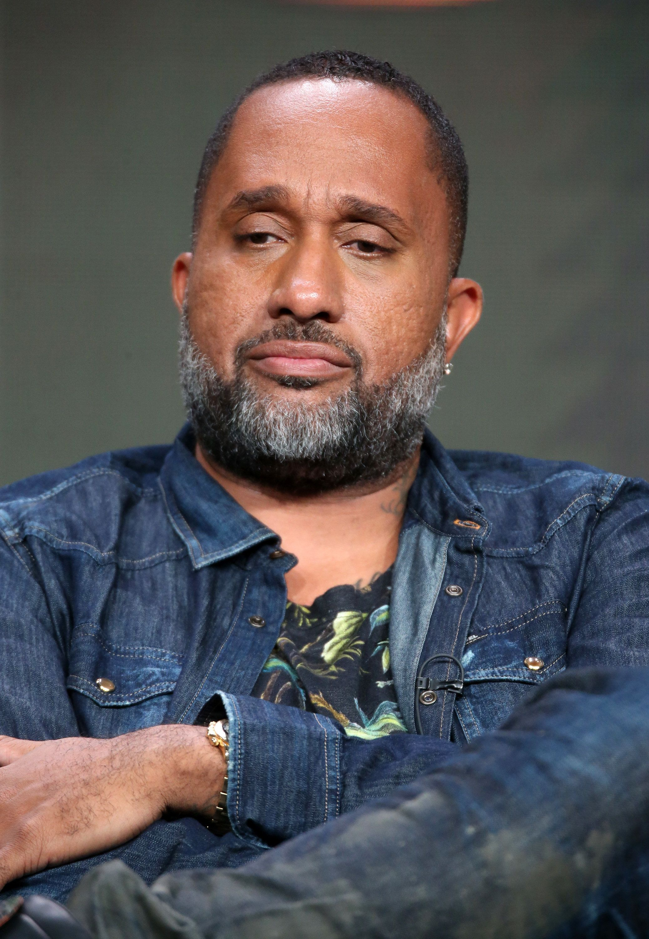 BEVERLY HILLS, CA - AUGUST 04:  Creator/executive producer Kenya Barris speaks onstage at the 'Black-ish' panel discussion during the Disney ABC Television Group portion of the 2016 Television Critics Association Summer Tour at The Beverly Hilton Hotel on August 4, 2016 in Beverly Hills, California.  (Photo by Frederick M. Brown/Getty Images)