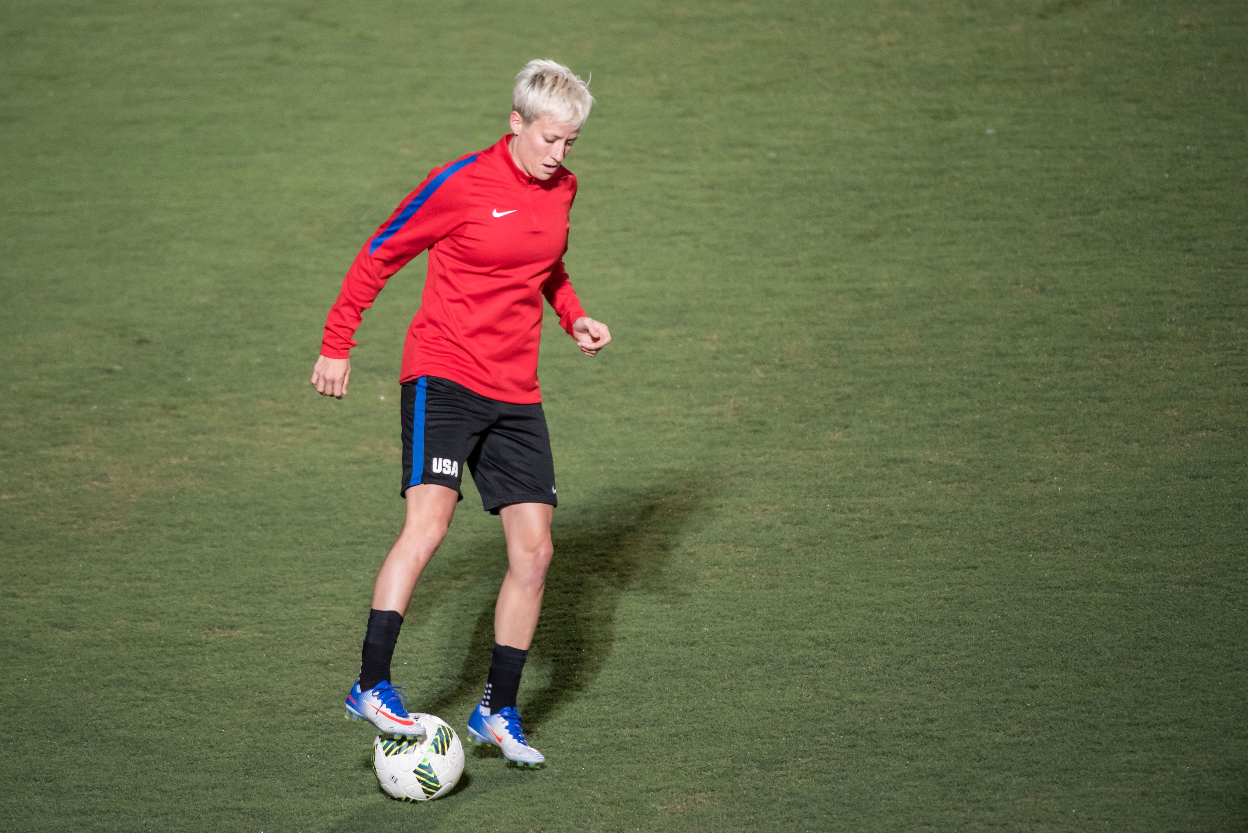 """U.S. midfielder Megan Rapinoe, who is openly gay, called the insults """"personally hurtful."""""""