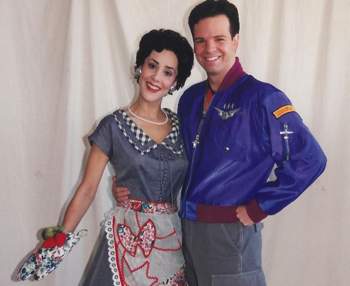 LaManna as a 1950s mom with the Squadron Leader. The show could have ended right here.
