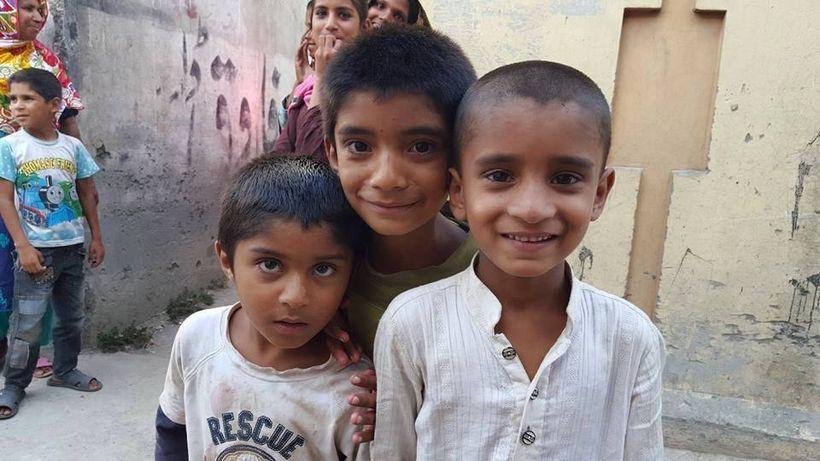 Kids in the slums, Rawalpindi, Pakistan