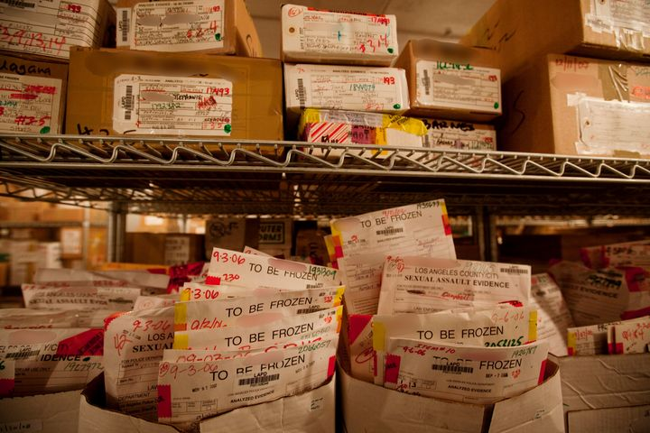 Los Angeles rape kits sit in LAPD deep freeze lockers untested.