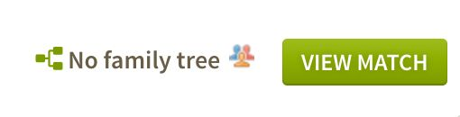 AncestryDNA cousin match and no family tree icon