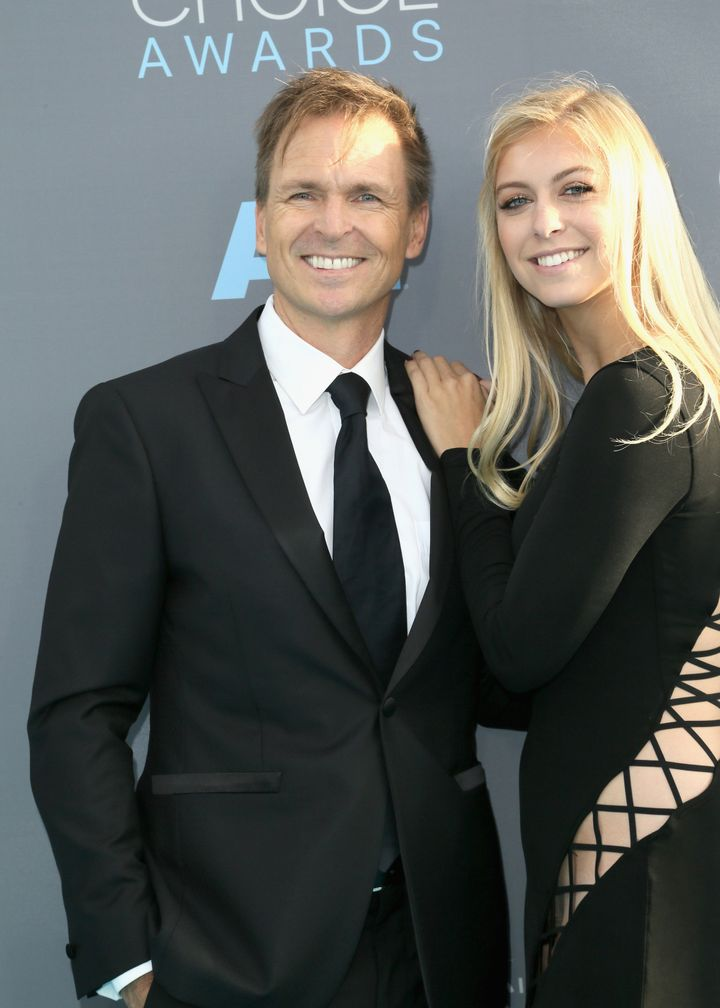 Phil Keoghan and daughter Elle Keoghan at the21st Annual Critics' Choice Awards on January 17, 2016 in Santa Monica, California.