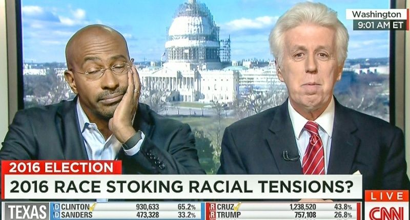 Right to left: Jeffrey Lord, guy who's not a moron