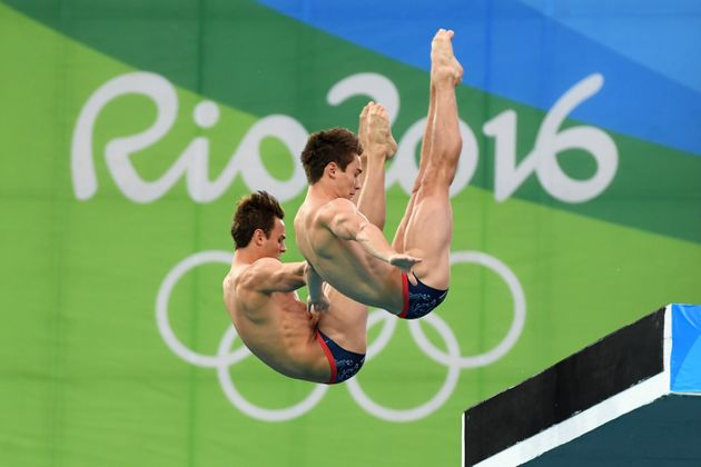 Daniel Goodfellow andTom Daley dive for bronze in