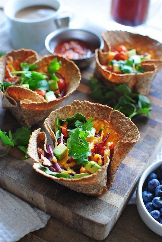 "<strong>Get the <a href=""http://bevcooks.com/2013/03/breakfast-taco-cups/"" target=""_blank"">Breakfast Taco Cups recipe</a> fro"