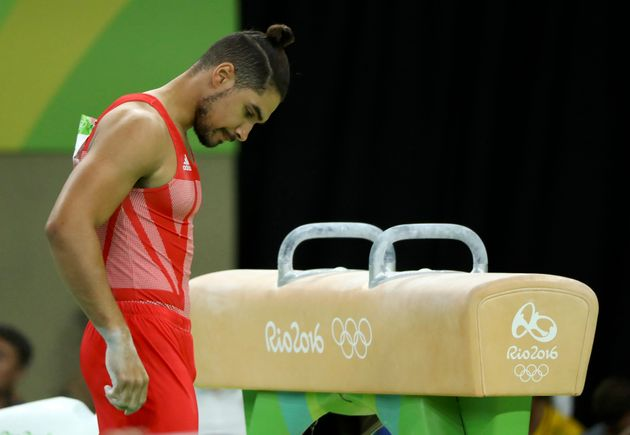 Louis Smith suffered a fall during his pommel horse