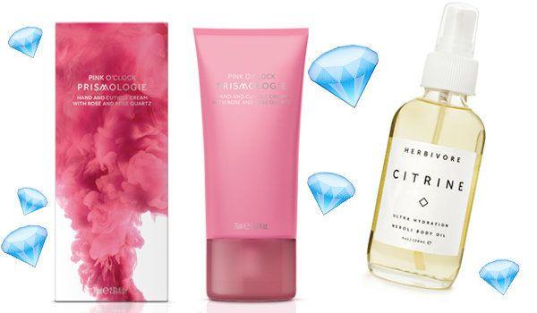 Prismologie Rose Quartz & Rose Hand And Cuticle Cream (£30), Herbivore Citrine Body Oil