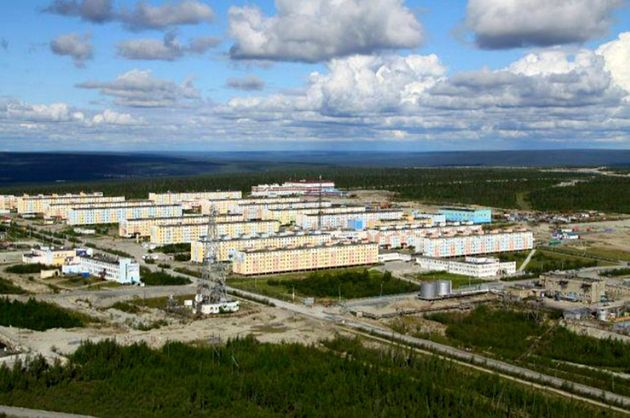 Udachny is famous for its pipe diamond deposit, which has been mined since the