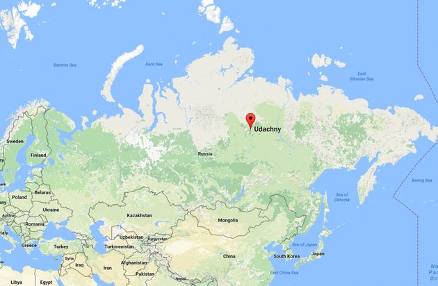 The mystery remains were found in Udachny,1160 miles northwest of regional capital