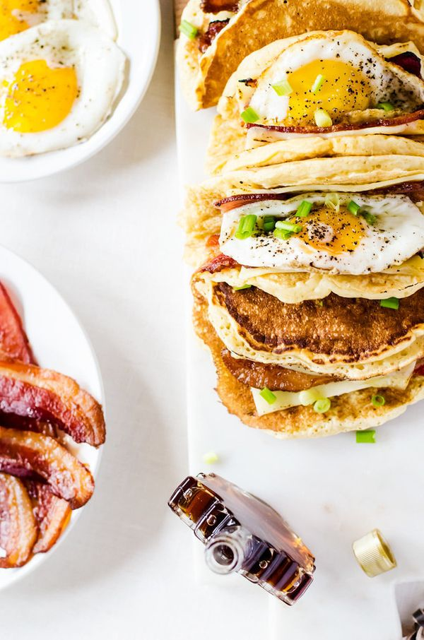 "<strong>Get the <a href=""http://cookienameddesire.com/american-breakfast-tacos-recipe/"" target=""_blank"">Pancake Breakfast Tac"