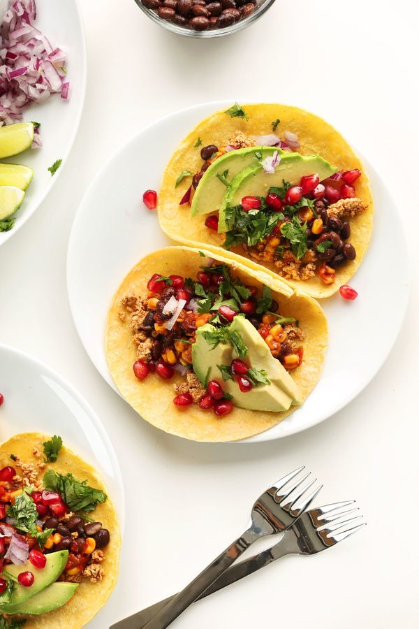 "<strong>Get the <a href=""http://minimalistbaker.com/easy-vegan-breakfast-tacos/"" target=""_blank"">Vegan Breakfast Tacos recipe"