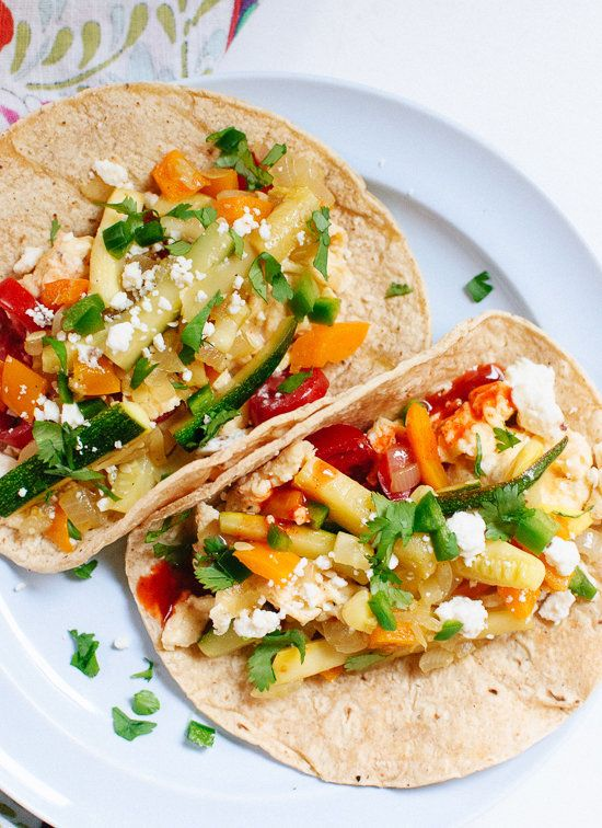 "<strong>Get the <a href=""http://cookieandkate.com/2014/veggie-breakfast-tacos/"" target=""_blank"">Veggie-Loaded Breakfast Tacos"