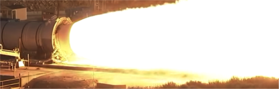 Image of Space Launch System Qualification Motor 2 test or, QM-2, without using HiDyRS-X