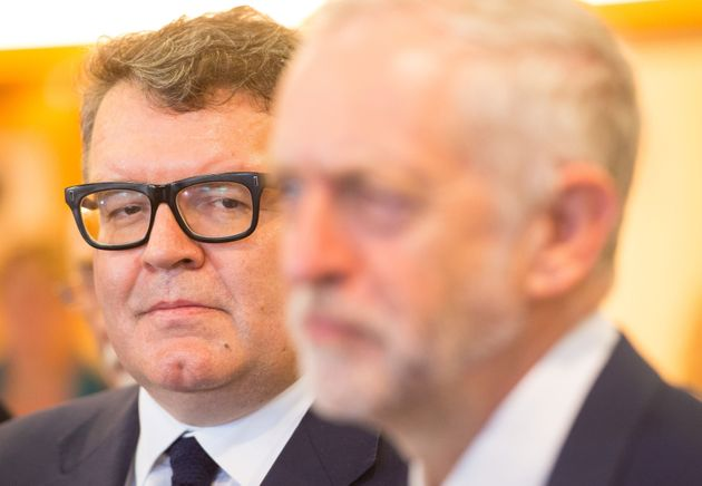 Tom Watson (left) and Jeremy Corbyn (right) rowed over the claim 'Trotskyists' had infiltrated