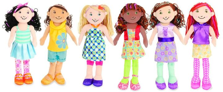 My girls have the brown Groovy Girl doll in the middle that has since been discontinued