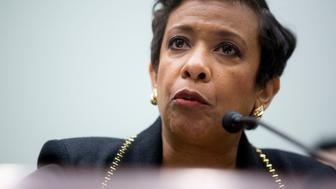 Loretta Lynch, U.S. attorney general, speaks during a House Judiciary Committee hearing in Washington, D.C., U.S., on Tuesday, Nov. 17, 2015. Following last week's Paris attack, Lynch said today the DOJ is committed to assisting French law enforcement colleagues in bringing those responsible for this 'monstrous act of terror to justice.' Photographer: Andrew Harrer/Bloomberg via Getty Images