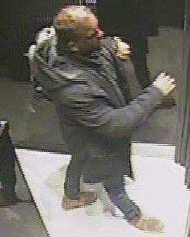Police wish to speak with the man pictured in connection with the Byron Burger incident last