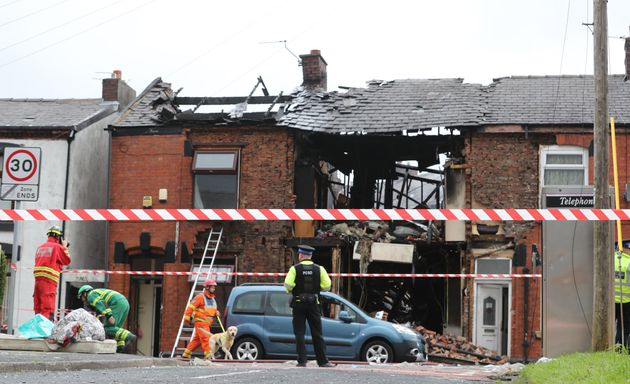 Residents described the explosion as sounding like a 'bomb went