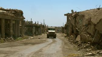 One of the roads in Sinjar, in northern Iraq, since it was retaken from ISIS last November. Few of its mainly Yazidi residents have returned.