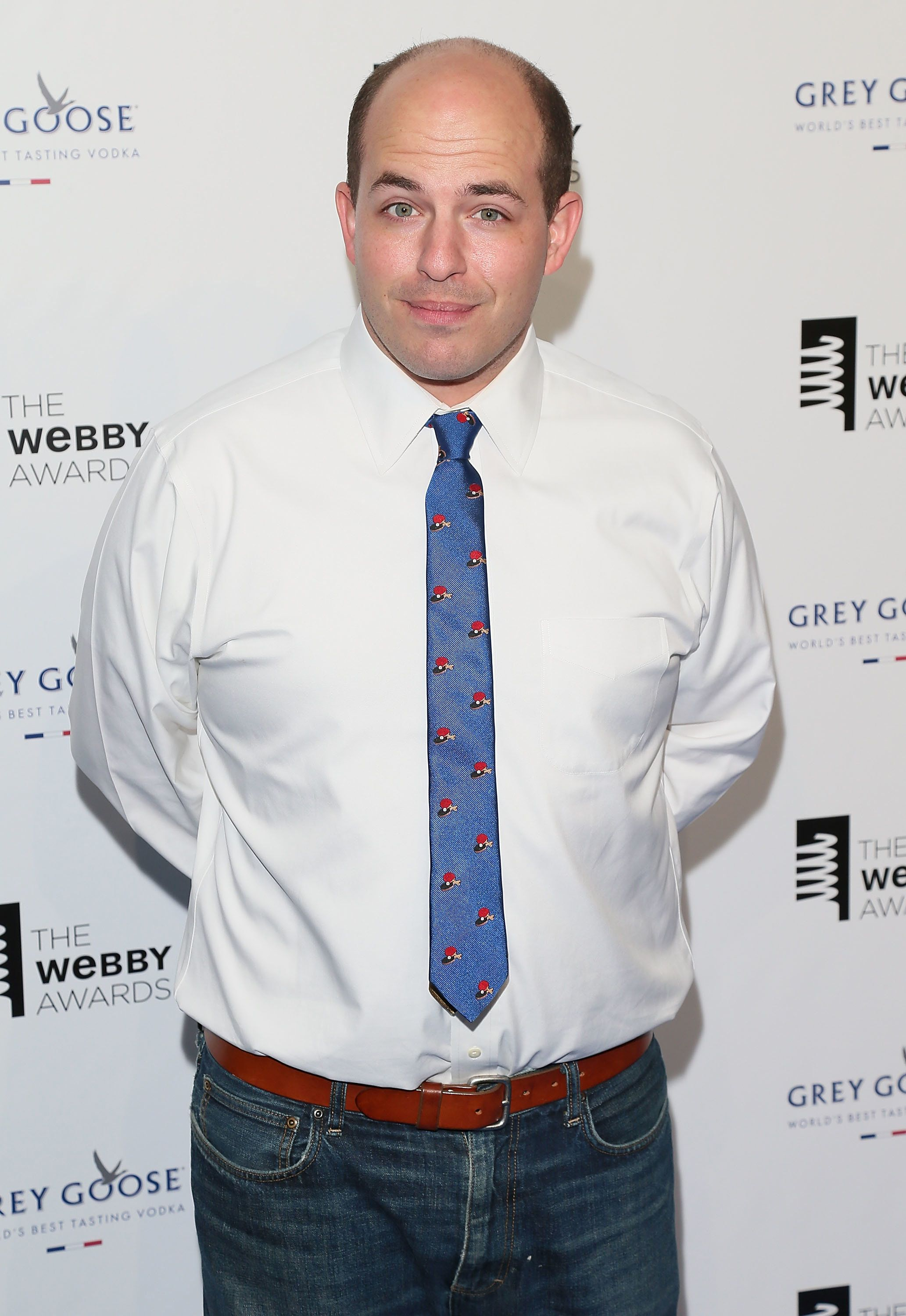 NEW YORK, NY - MAY 18:  Brian Stelter attends the 19th Annual Webby Awards at Cipriani Wall Street on May 18, 2015 in New York City.  (Photo by Charles Norfleet/WireImage)