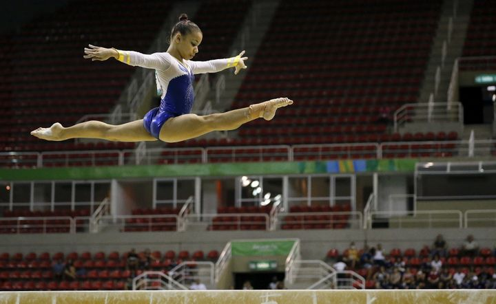 Flavia Saraiva is a serious medal contender on the balance beam, a categoryshe has excelled in thus far.