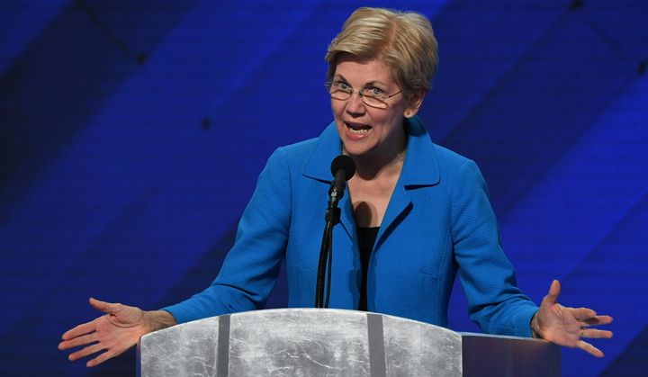 Elizabeth Warren took Donald Trump to task over his latest remarks about Hillary Clinton.