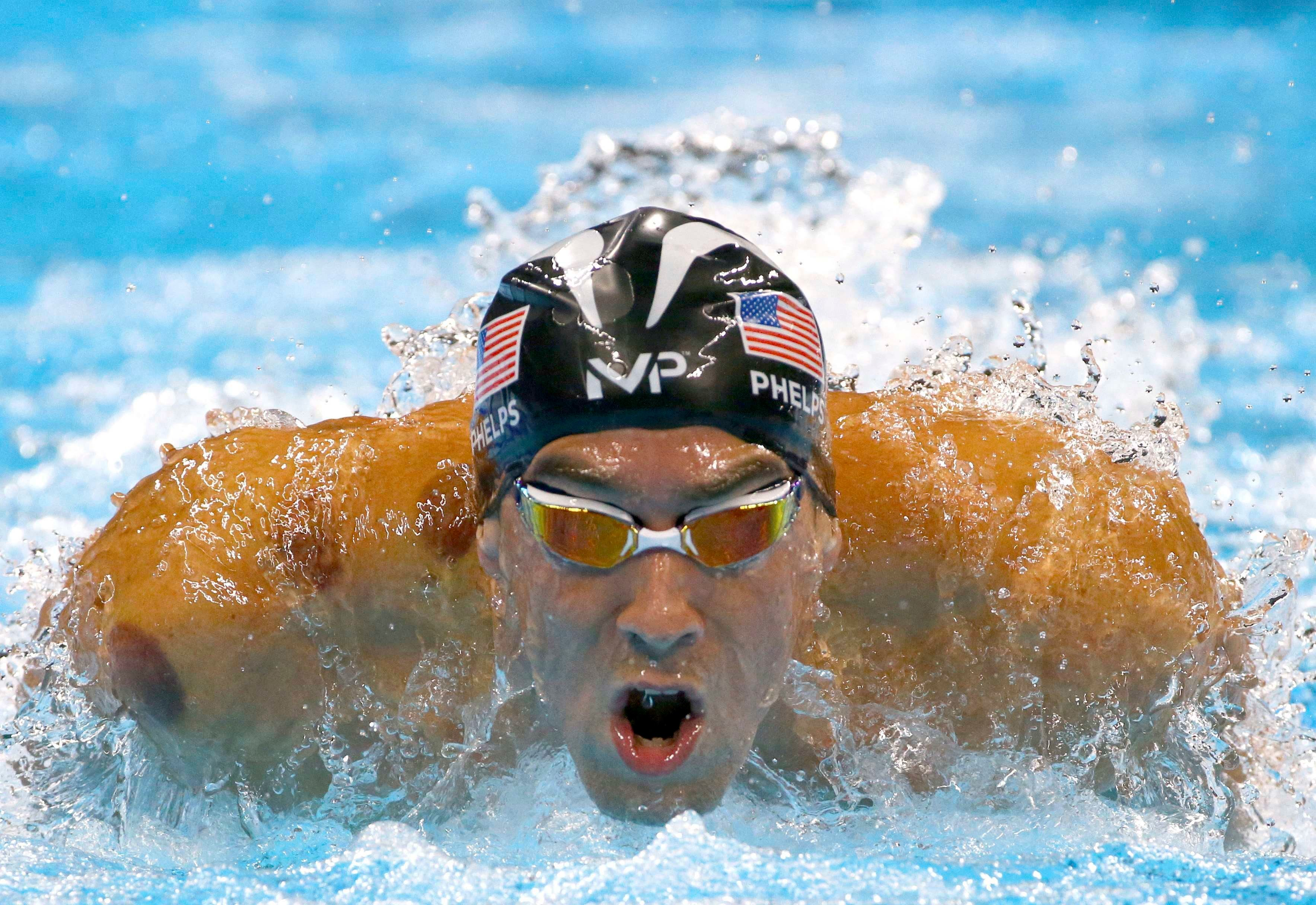 2016 Rio Olympics - Swimming  - Men's 200m Butterfly Semifinals - Olympic Aquatics Stadium - Rio de Janeiro, Brazil - 08/08/2016. Michael Phelps (USA) of USA  competes   REUTERS/David Gray   FOR EDITORIAL USE ONLY. NOT FOR SALE FOR MARKETING OR ADVERTISING CAMPAIGNS.