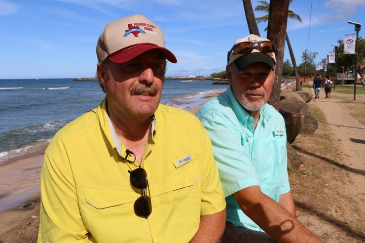 Lonnie Watson and Mark Louviere of Fort Worth, Texas.