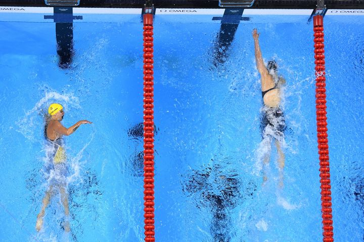 Katie Ledecky finished ahead of Sweden's Sarah Sjostrom with a time of 1:53.73.